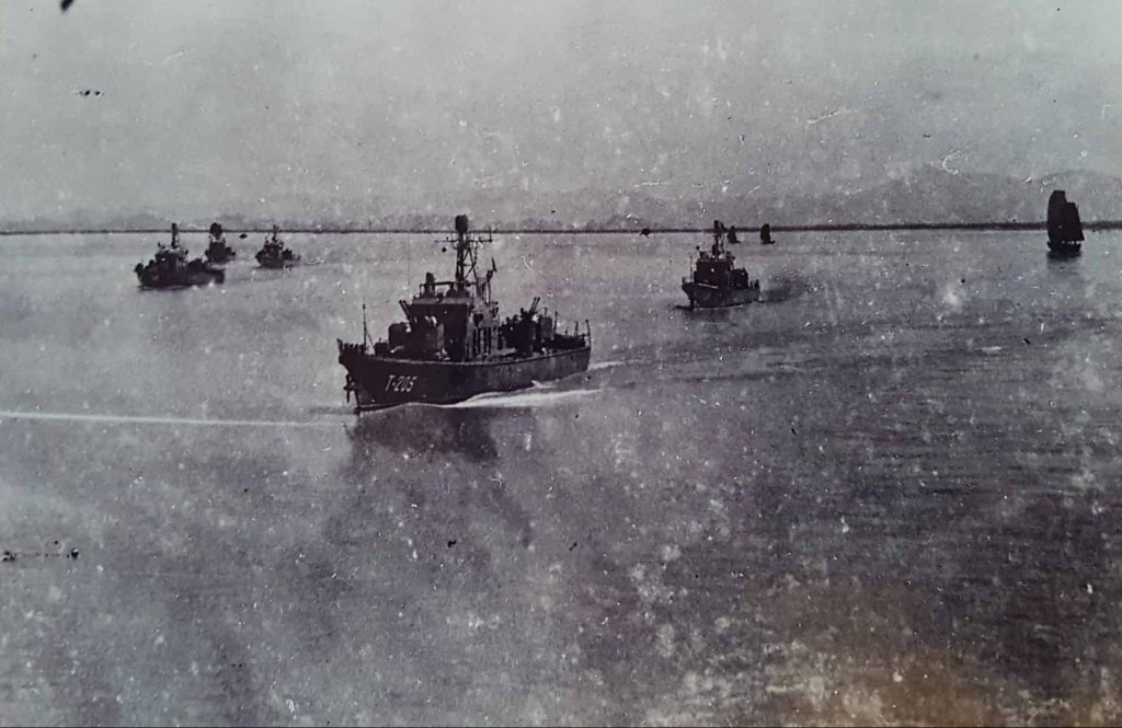 Bang Lam Vietnamese vessels after USS Maddox, Gulf of Tonkin Incident